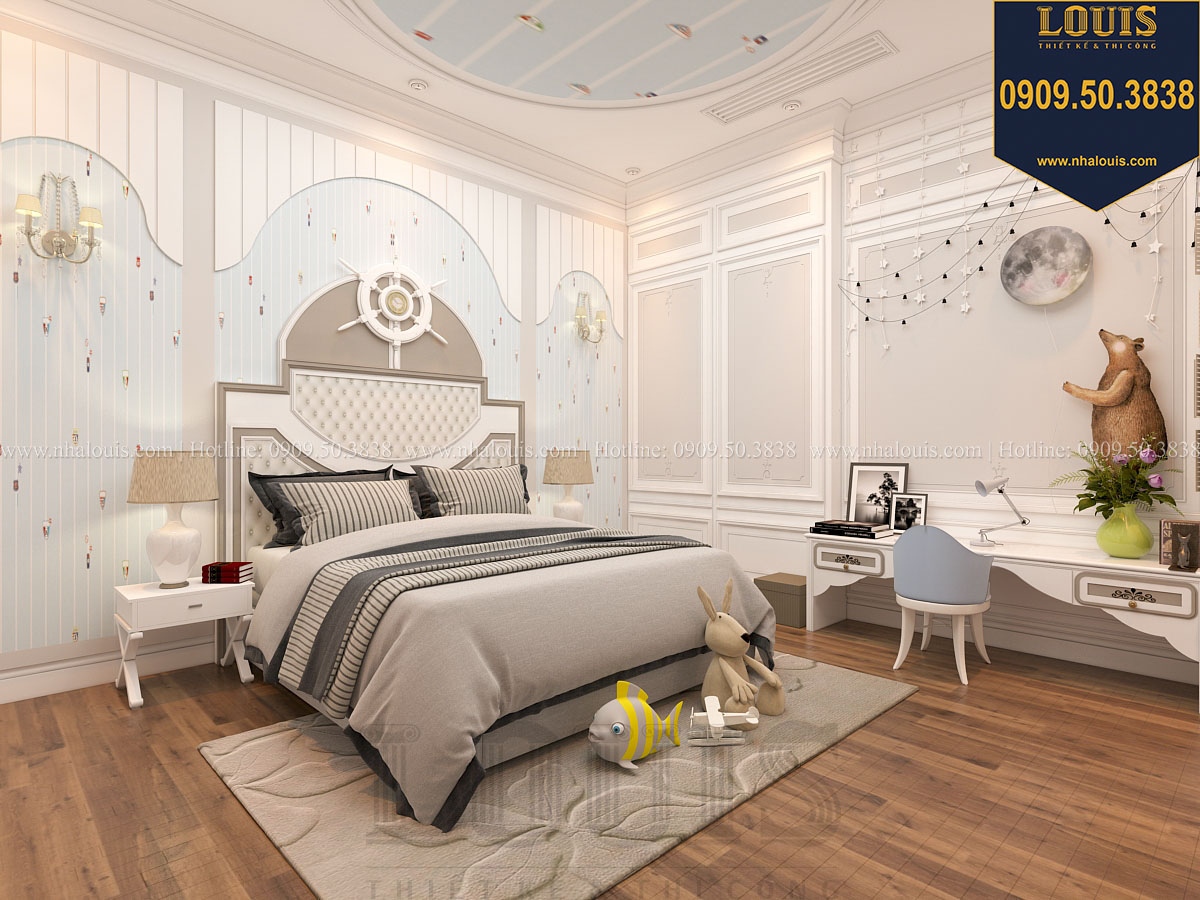 Phòng ngủ biệt thự phong cách cổ điển châu Âu - 039