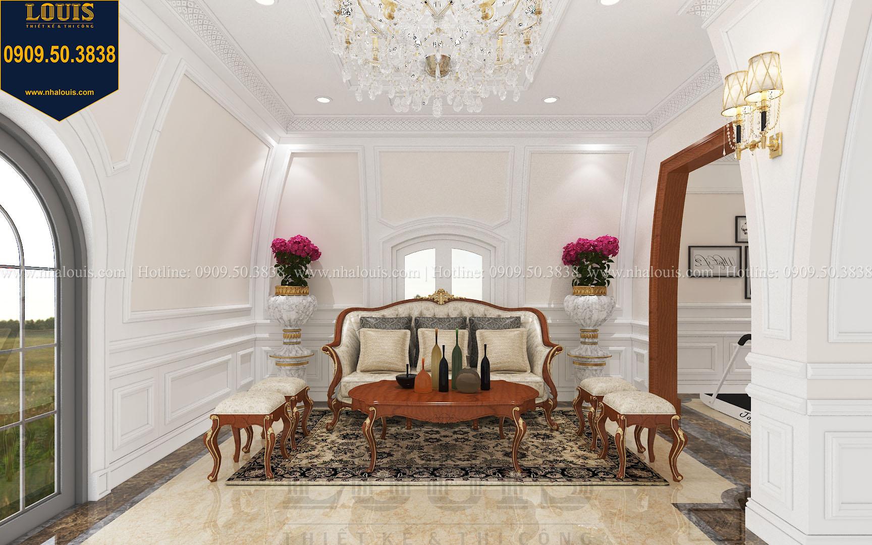 Phòng sinh hoạt chung biệt thự phong cách cổ điển châu Âu - 044