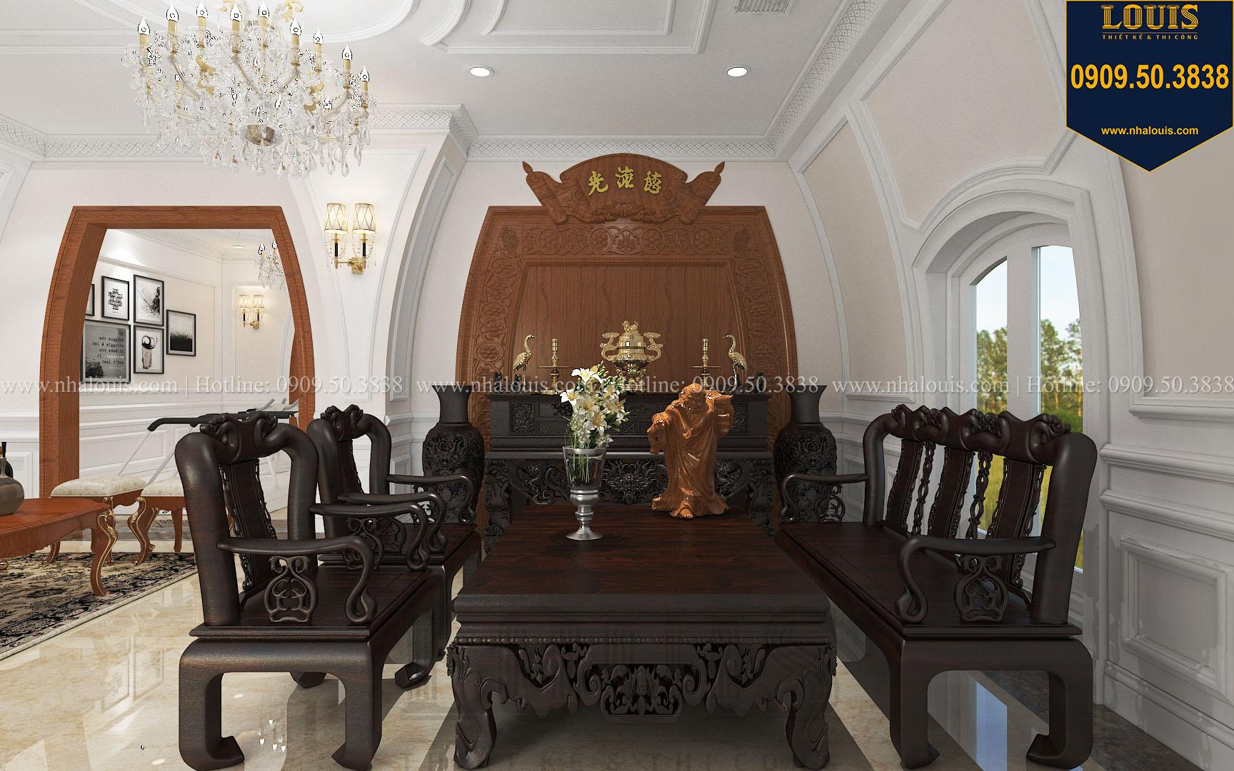 Phòng thờ biệt thự phong cách cổ điển châu Âu - 050
