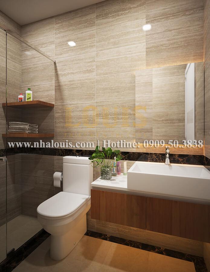 Phòng tắm và WC mẫu nhà 2 tầng đơn giản đầy đủ tiện nghi tại bình dương