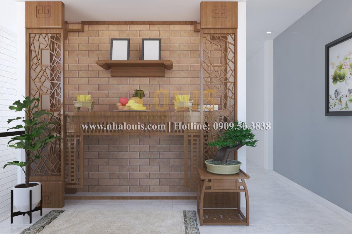 Phòng thờ mẫu nhà 2 tầng đơn giản đầy đủ tiện nghi tại bình dương