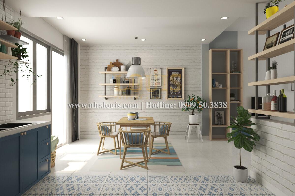 Phòng bếp và phòng ăn mẫu nhà 2 tầng đơn giản đầy đủ tiện nghi tại bình dương