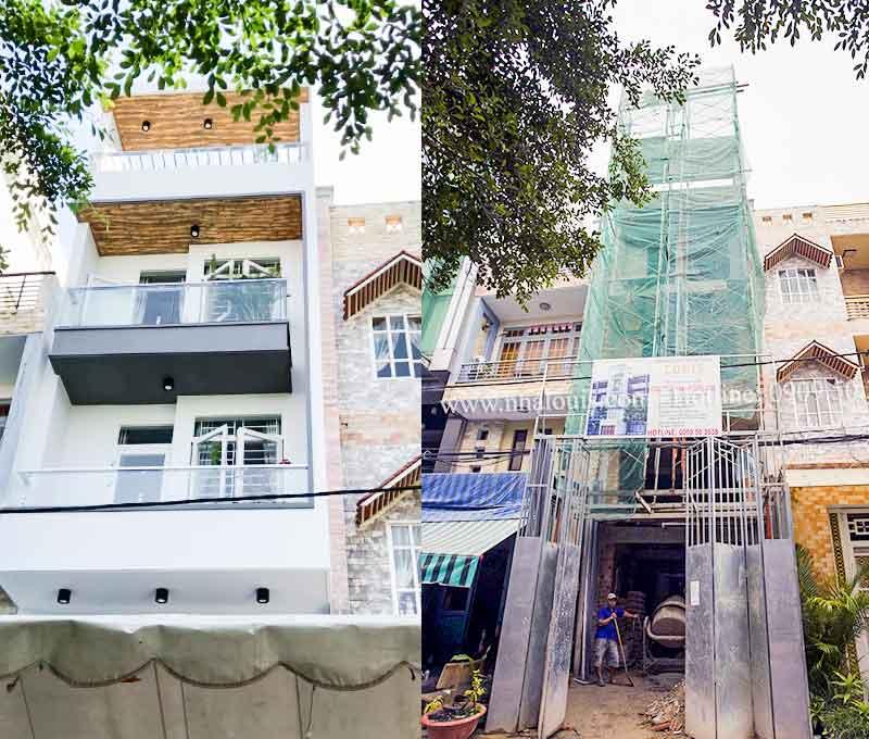 Tham quan nhà ống 5 tầng mặt tiền 4m đã hoàn thiện tại Tân Phú