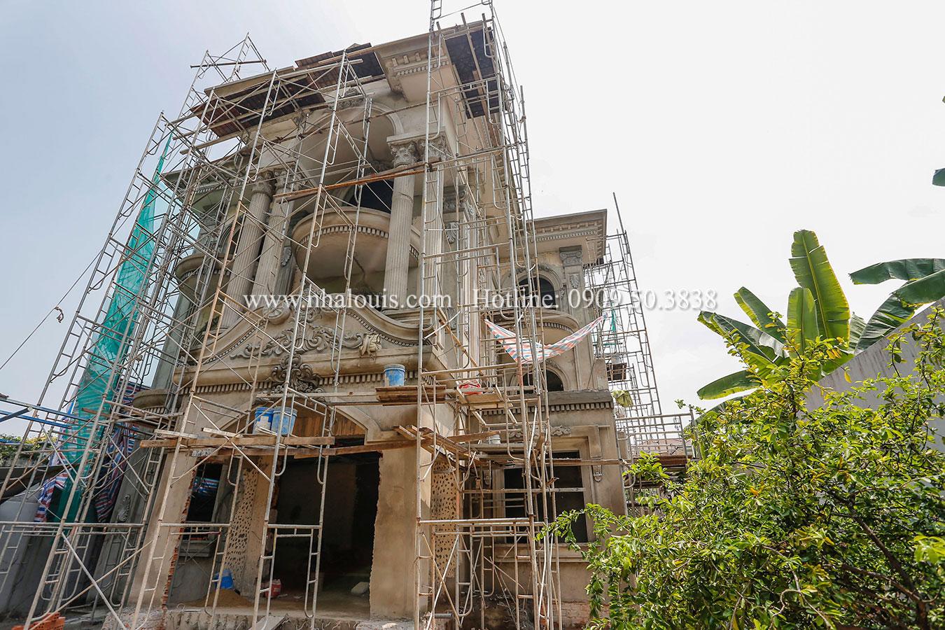 Thi công cải tạo biệt thự 3 tầng cổ điển đẳng cấp tại Bình Chánh