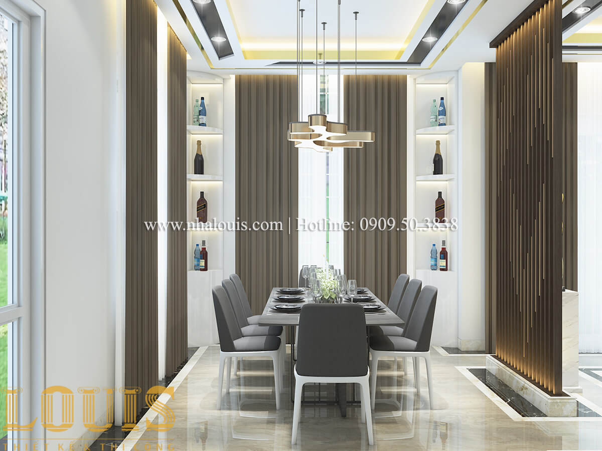 Phòng ăn nội thất biệt thự hiện đại đẹp đẳng cấp tại Vũng Tàu