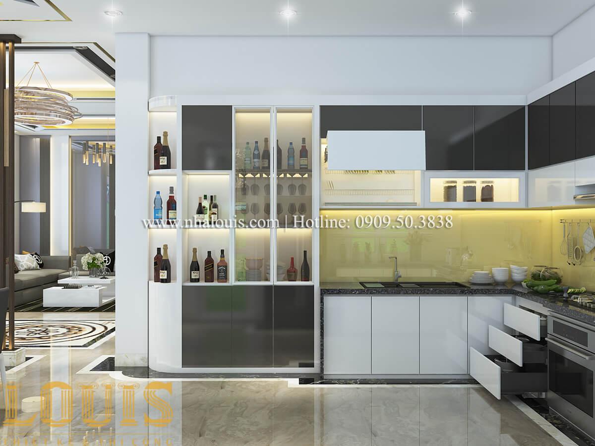 Phòng bếp nội thất biệt thự hiện đại đẹp đẳng cấp tại Vũng Tàu