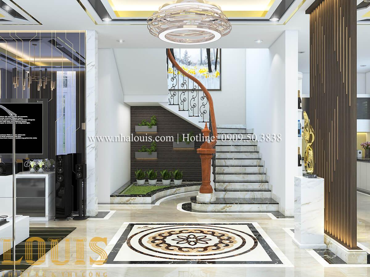 Tiểu cảnh cầu thang Ngắm nội thất biệt thự hiện đại đẹp đẳng cấp tại Vũng Tàu