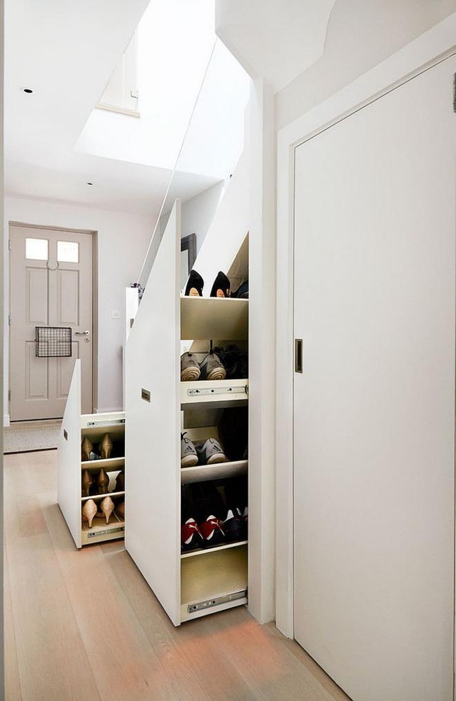Ý tưởng thiết kế kệ giày đẹp tiết kiệm không gian nhà