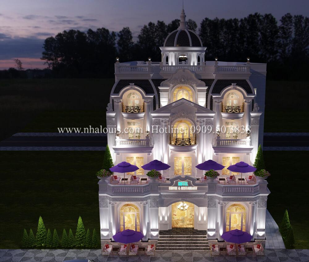 Thiết kế khách sạn cổ điển kết hợp kinh doanh quán cafe tại An Giang
