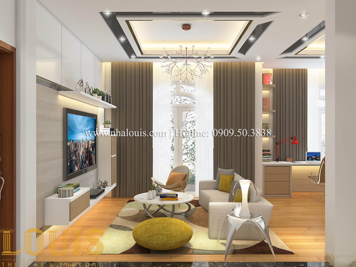 Phòng sinh hoạt chung nội thất biệt thự hiện đại đẹp đẳng cấp tại Vũng Tàu