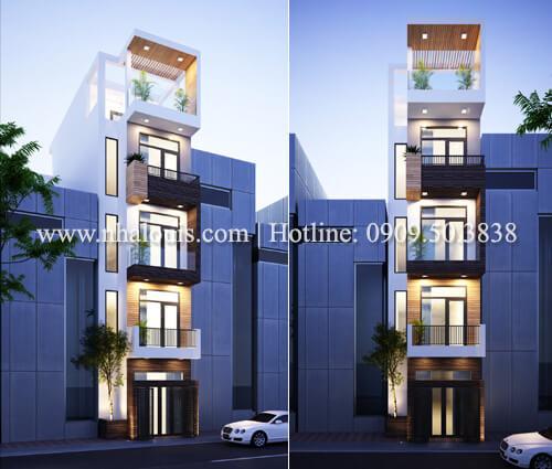 Thiết kế nhà 70m2 hiện đại có không gian mở tại Tân Bình