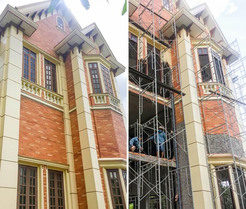 Video ghi nhận hình ảnh khởi công cải tạo biệt thự đẹp theo phong cách cổ điển tại Long Thành