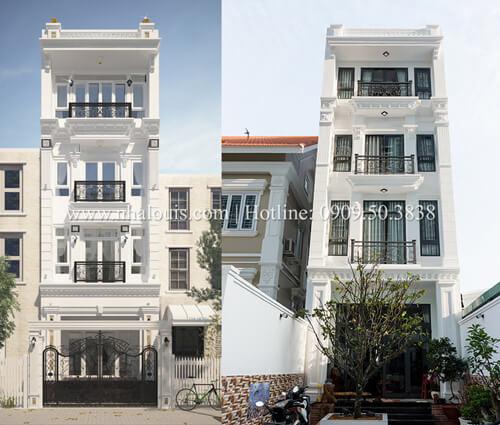 Sang trọng với nhà phố tân cổ điển 4 tầng tại quận 7