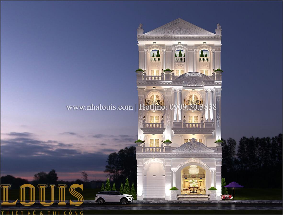 mặt tiền thiết kế sửa chữa nhà cũ thành biệt thự cổ điển sang trọng tại Tân Phú