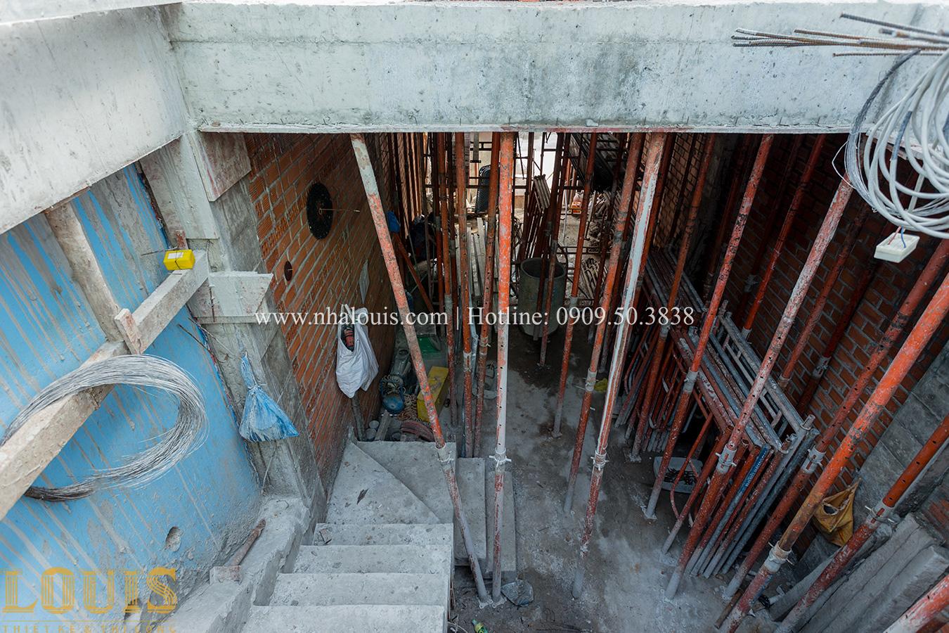 Thi công nhà tân cổ điển 4 tầng đẹp sang trọng tại Bình Tân