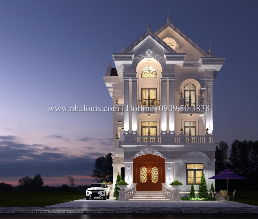 Thiết kế biệt thự 9x15m tân cổ điển sang trọng tại Thanh Hóa