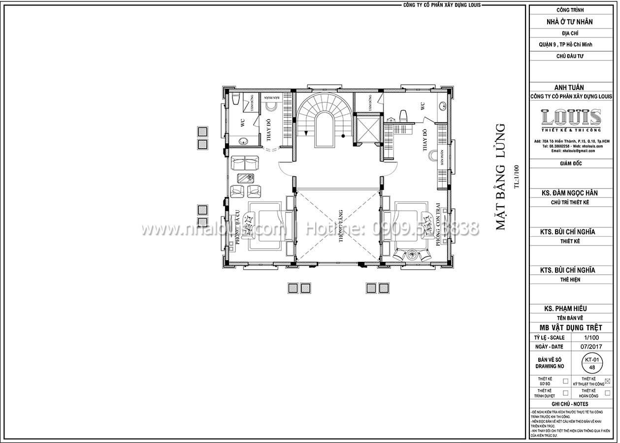 Ngắm thiết kế mẫu biệt thự 3 tầng kiểu Pháp với hệ mái Mansard độc đáo tại quận 7