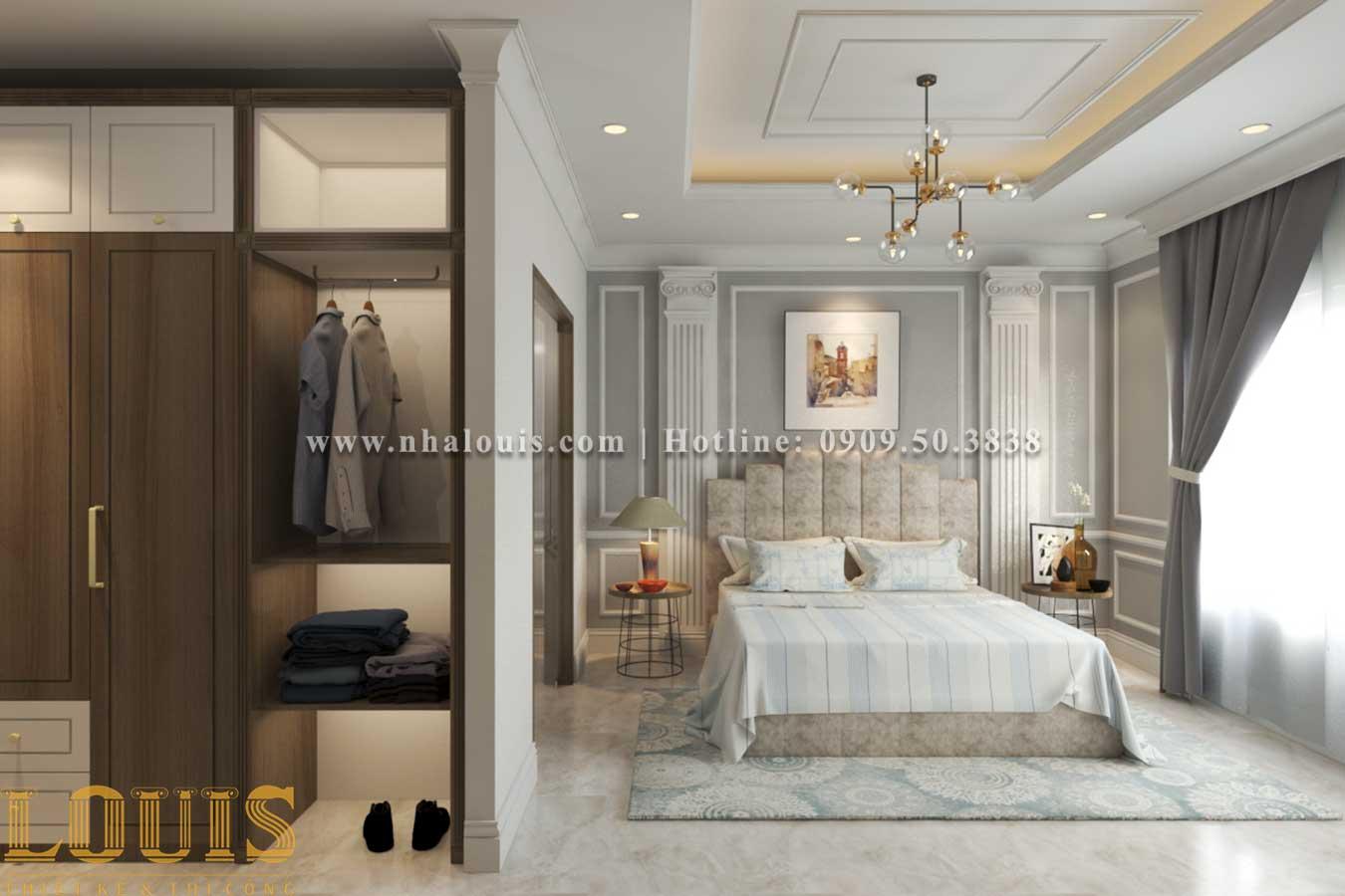 Phòng ngủ Thiết kế biệt thự 3 tầng tân cổ điển đẹp lộng lẫy tại Bình Dương