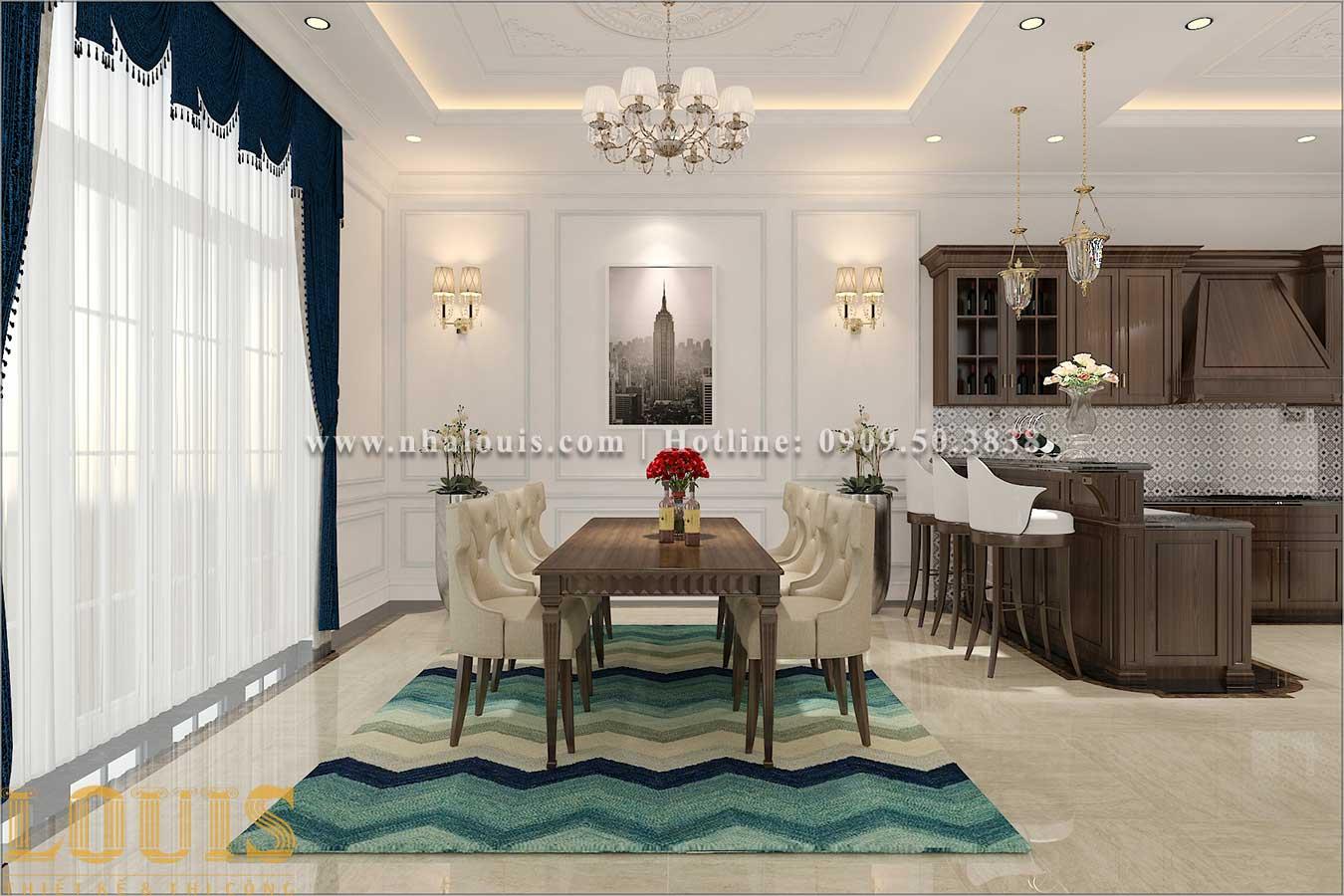 Phòng ăn Thiết kế biệt thự 3 tầng tân cổ điển đẹp lộng lẫy tại Bình Dương
