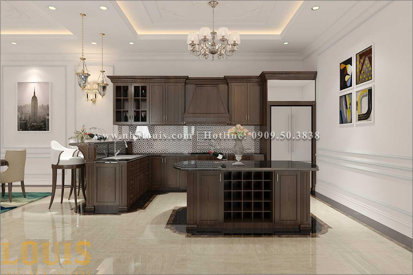 Phòng bếp Thiết kế biệt thự 3 tầng tân cổ điển đẹp lộng lẫy tại Bình Dương