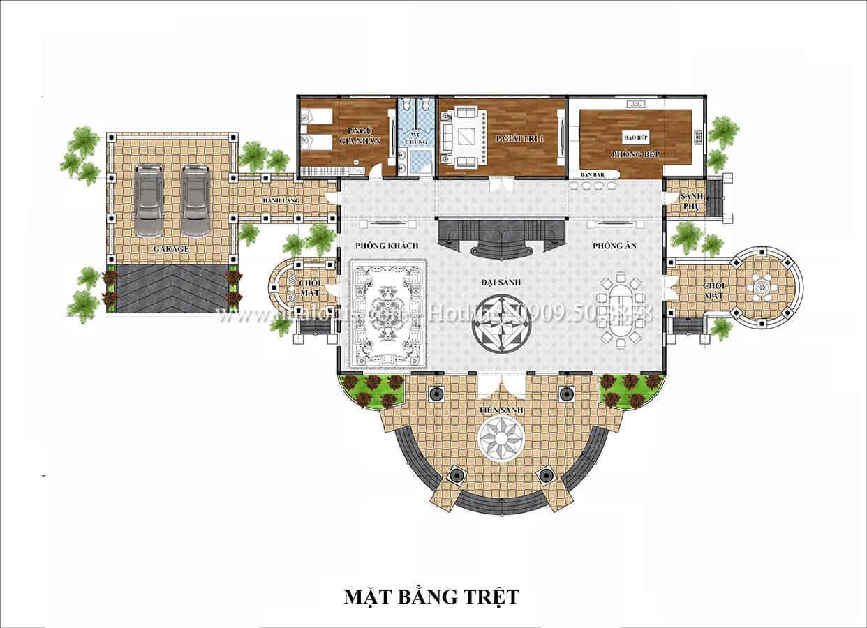 Thiết kế biệt thự vườn 3 tầng tân cổ điển đẹp tại Tiền Giang