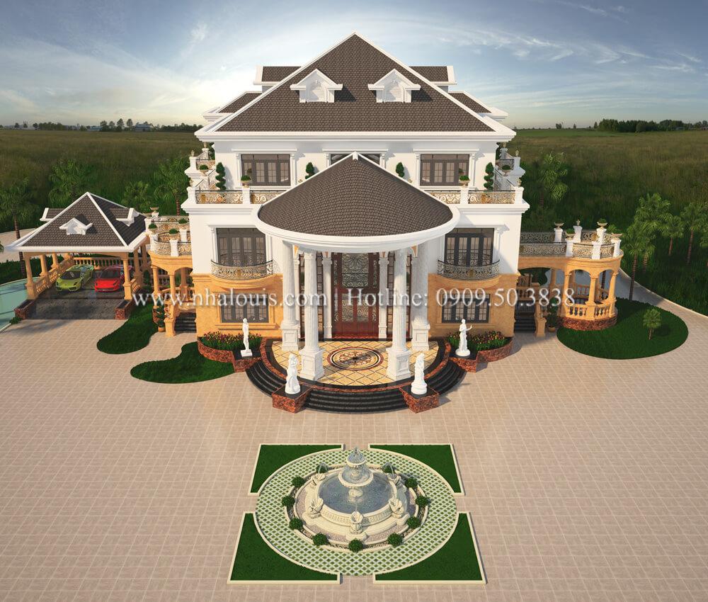 Thiết kế biệt thự vườn 3 tầng mang hơi hướng kiến trúc Ả Rập tại Tiền Giang