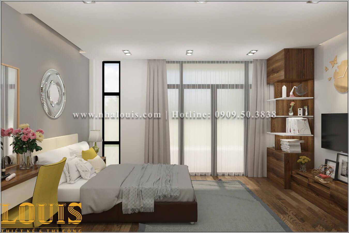 Phòng ngủ Thiết kế nhà ống 2 tầng 1 tum đẹp theo xu hướng mới 2018 tại Long An