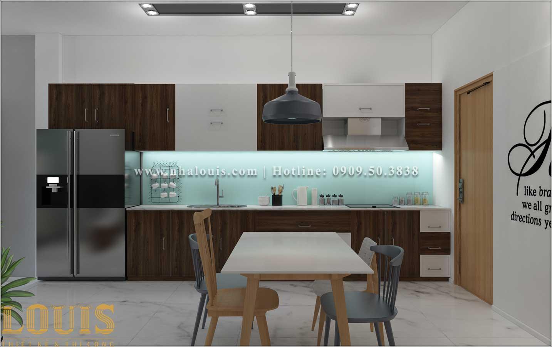 Bếp và phòng ăn Thiết kế nhà ống 2 tầng 1 tum đẹp theo xu hướng mới 2018 tại Long An