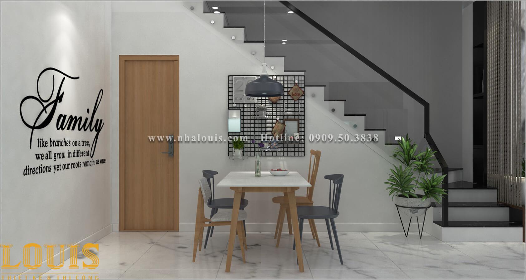 Phòng ăn Thiết kế nhà ống 2 tầng 1 tum đẹp theo xu hướng mới 2018 tại Long An