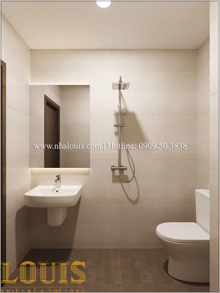 Phòng tắm và WC Thiết kế nhà ống 3 tầng mặt tiền 5m đầy đủ tiện nghi tại Bến Tre