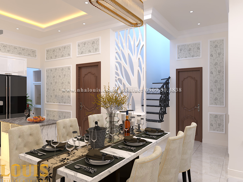Phòng ăn Thiết kế nhà ống tân cổ điển 4 tầng đầy đủ tiện nghi tại Gò Vấp
