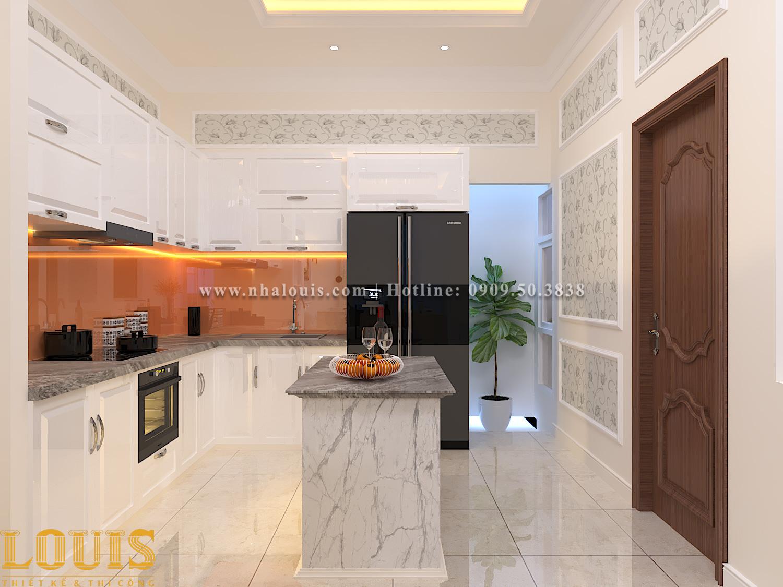 Phòng bếp Thiết kế nhà ống tân cổ điển 4 tầng đầy đủ tiện nghi tại Gò Vấp