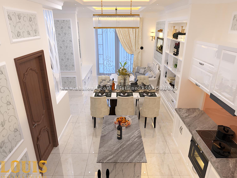 Phòng bếp và phòng ăn Thiết kế nhà ống tân cổ điển 4 tầng đầy đủ tiện nghi tại Gò Vấp