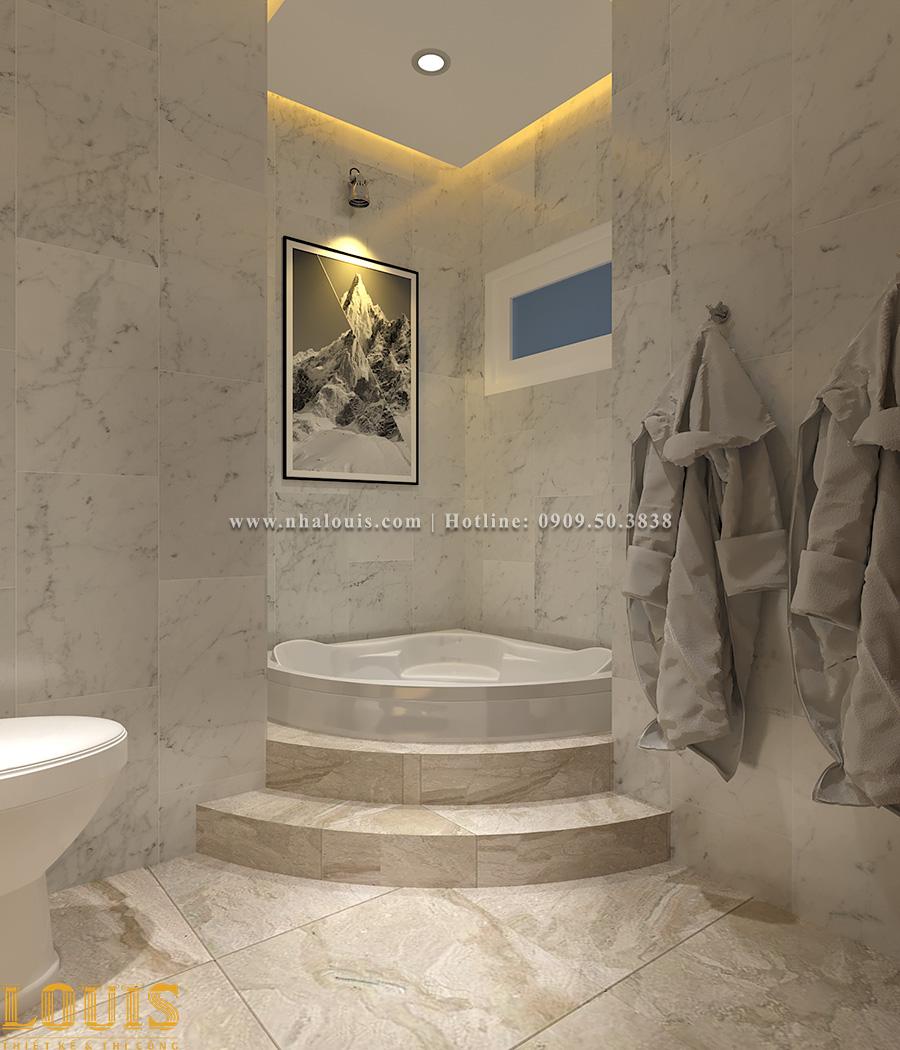 Phòng tắm Thiết kế nhà ống tân cổ điển 4 tầng đầy đủ tiện nghi tại Gò Vấp