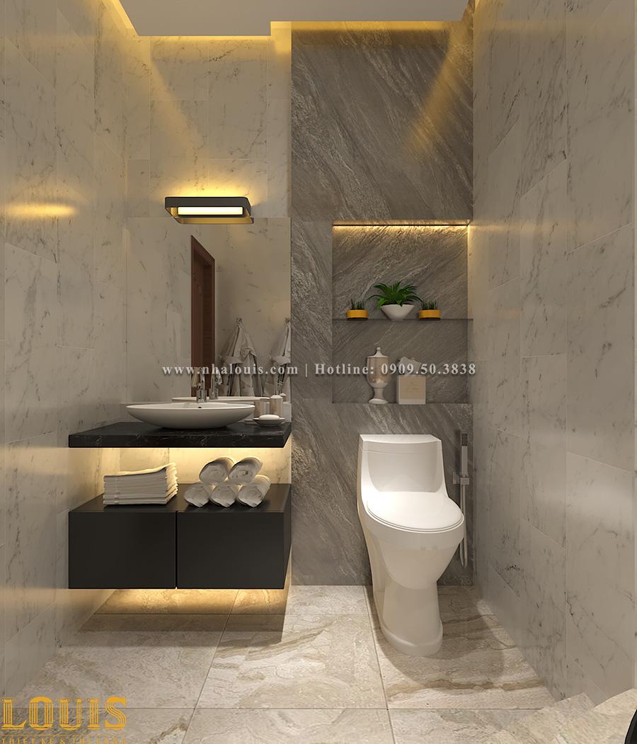 Phòng tắm và WC Thiết kế nhà ống tân cổ điển 4 tầng đầy đủ tiện nghi tại Gò Vấp