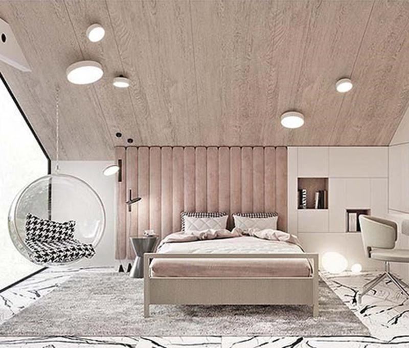 Thiết kế nội thất nhà ấn tượng với tông hồng ngọt ngào