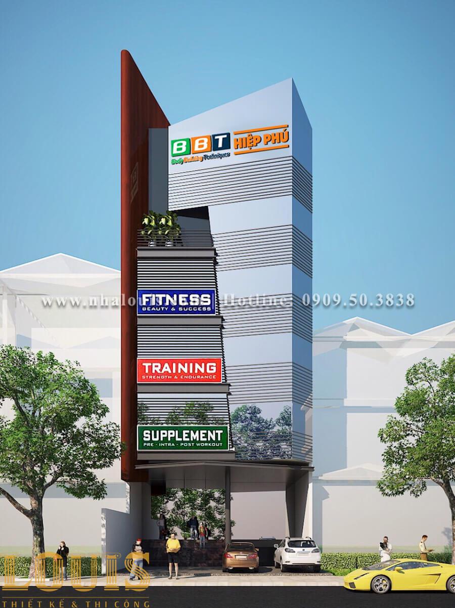 Mặt tiền Thiết kế phòng gym hiện đại với quy mô khủng tại Quận 9 - 01