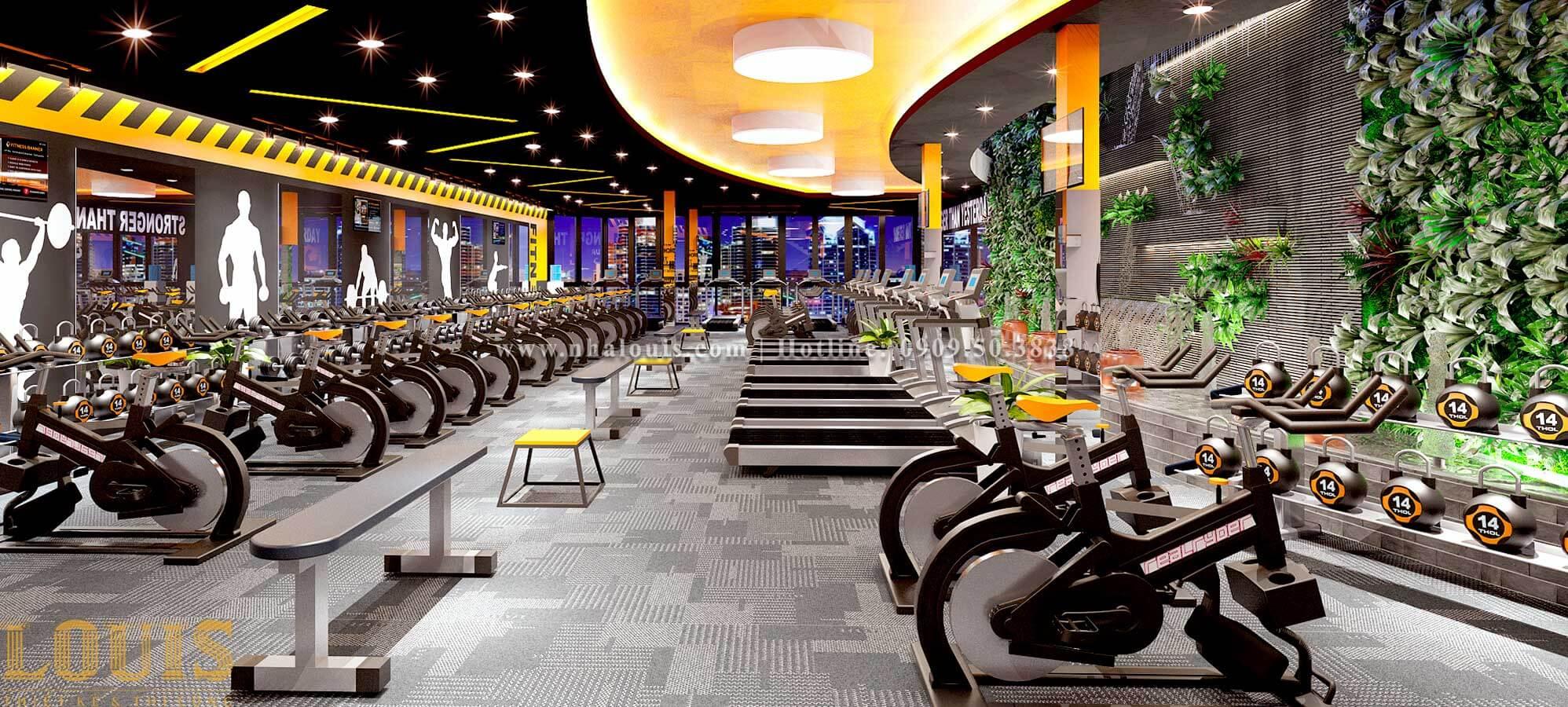 Thiết kế phòng gym hiện đại với quy mô khủng tại Quận 9 - 06