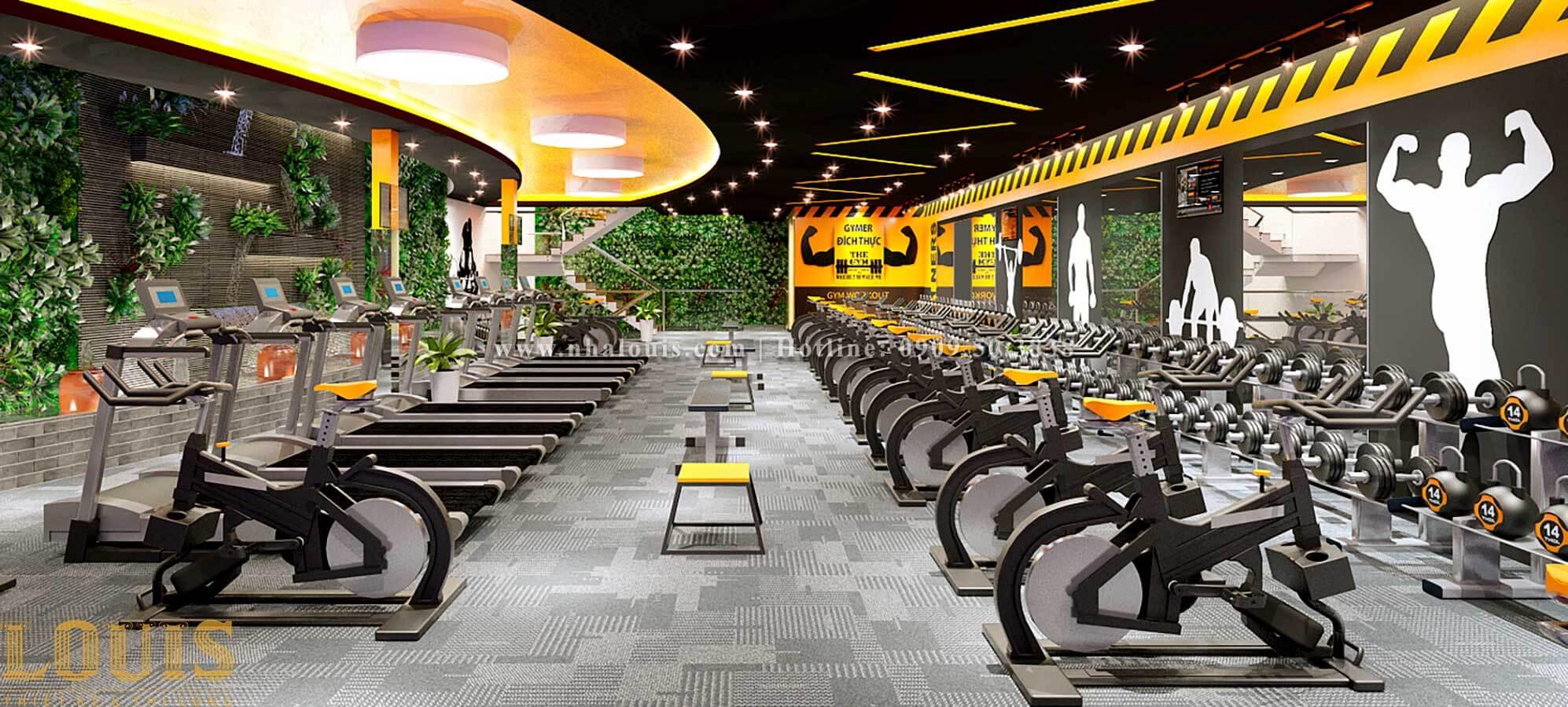 Thiết kế phòng gym hiện đại với quy mô khủng tại Quận 9 - 08