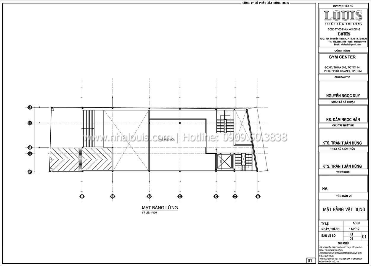 Mặt bằng tầng lửng Thiết kế phòng tập gym hiện đại với quy mô khủng tại Quận 9 - 23