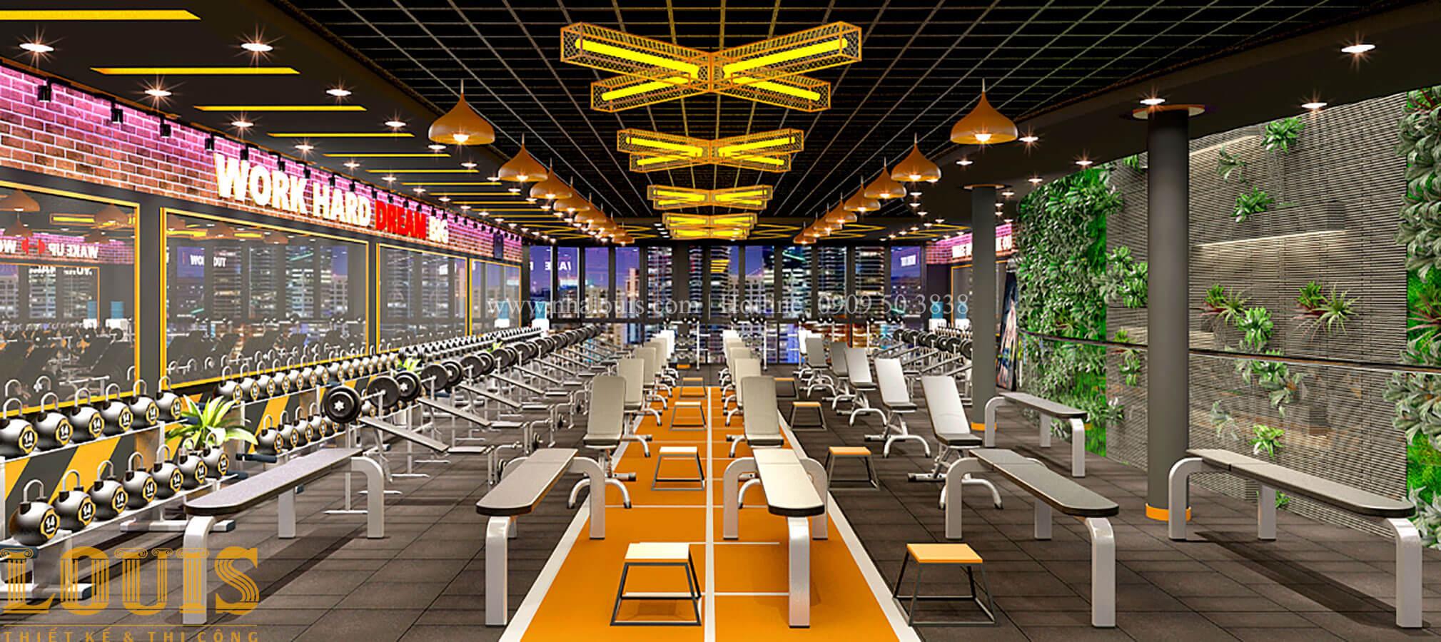 Phòng tập Thiết kế phòng tập gym hiện đại với quy mô khủng tại Quận 9 - 28