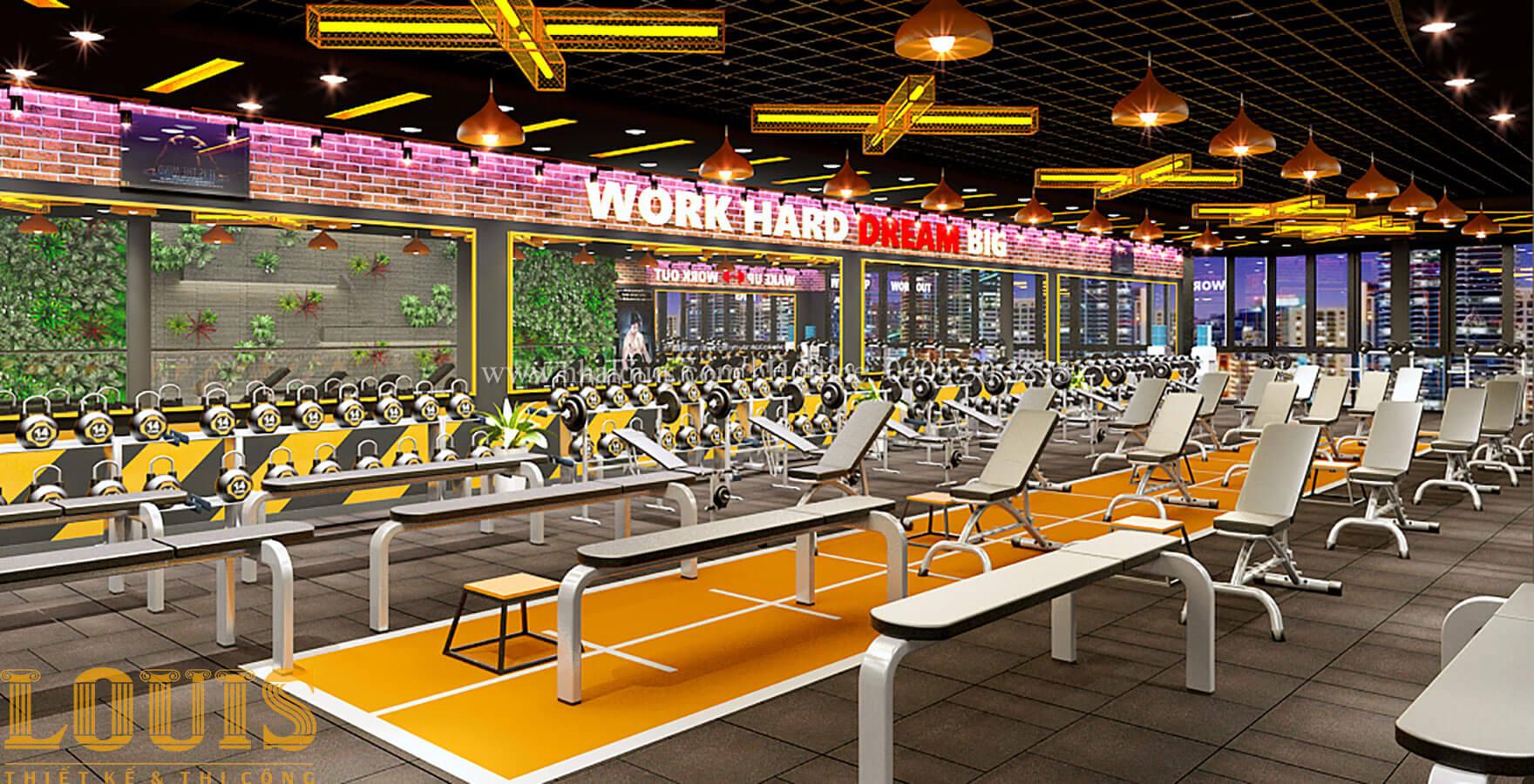 Phòng tập Thiết kế phòng tập gym hiện đại với quy mô khủng tại Quận 9 - 32