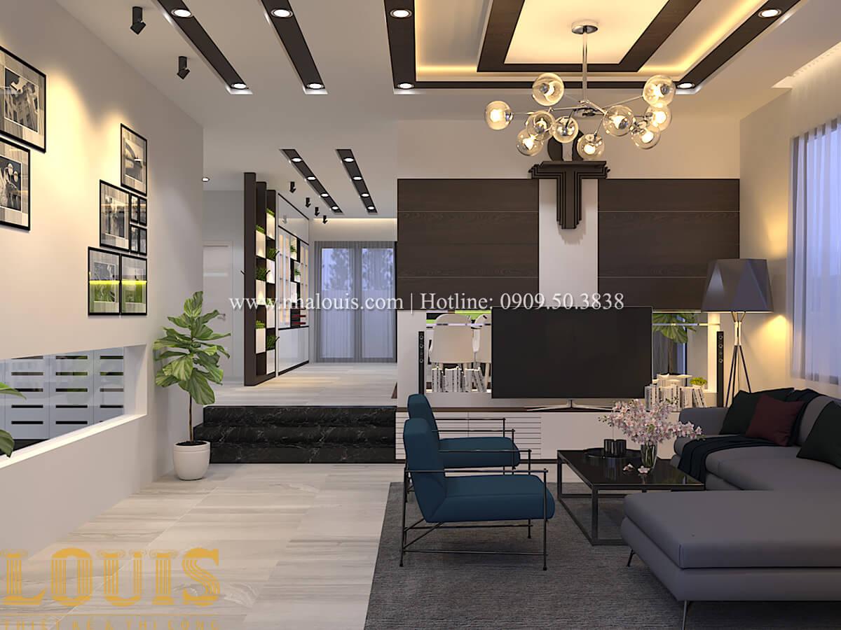 Phòng khách Biệt thự 1 trệt 1 lầu phong cách hiện đại 10