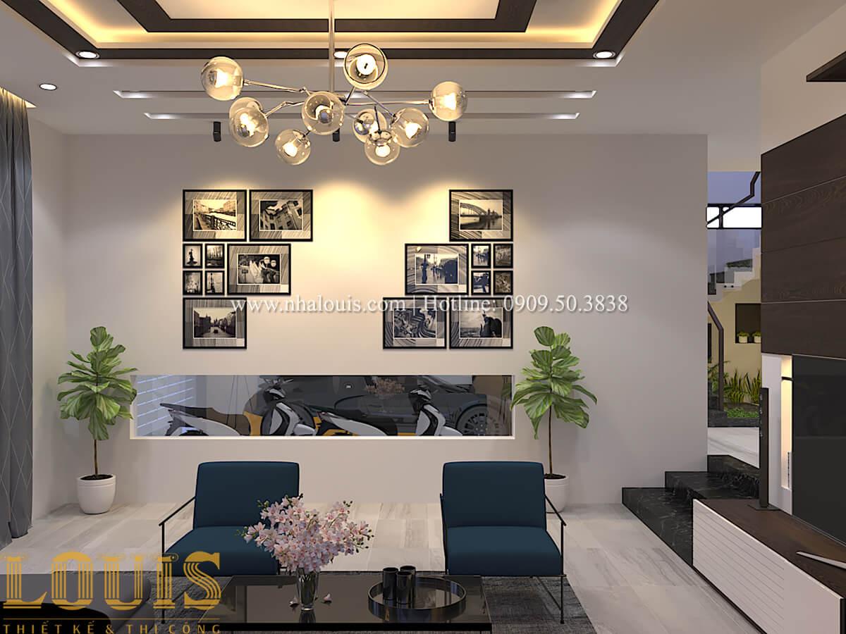 Phòng khách Biệt thự 1 trệt 1 lầu phong cách hiện đại 11