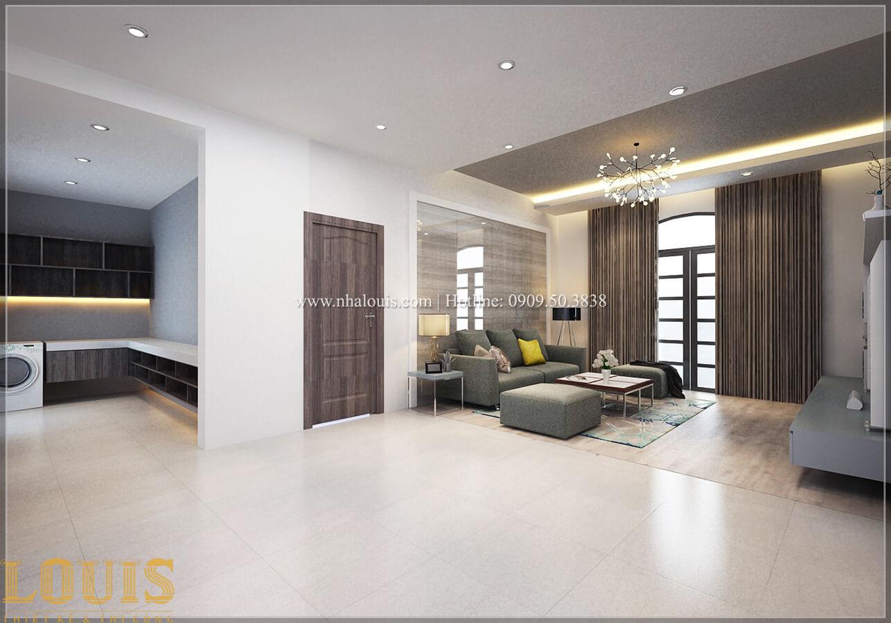 Phòng sinh hoạt chung Biệt thự 1 trệt 1 lầu phong cách hiện đại 24