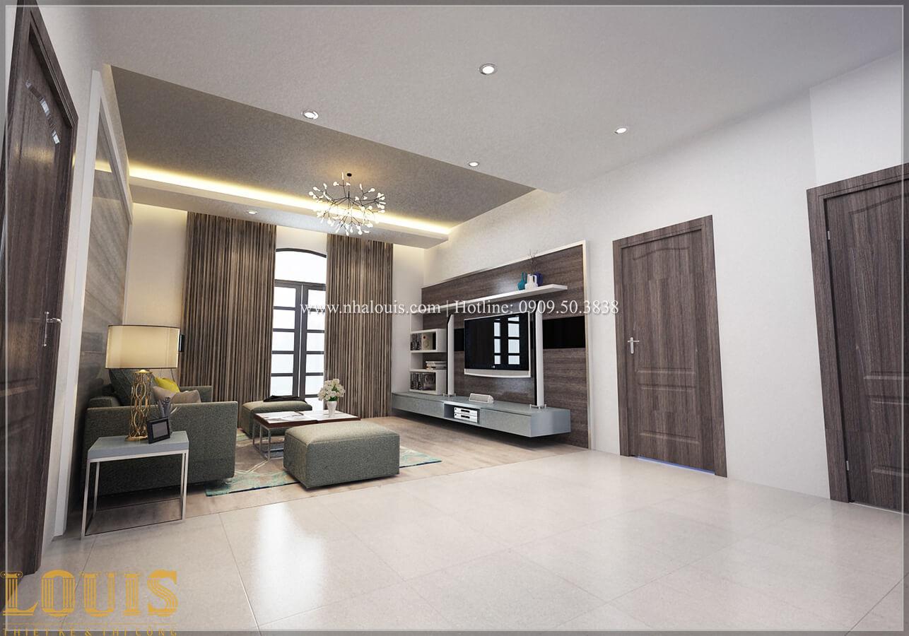 Phòng sinh hoạt chung Biệt thự 1 trệt 1 lầu phong cách hiện đại 26