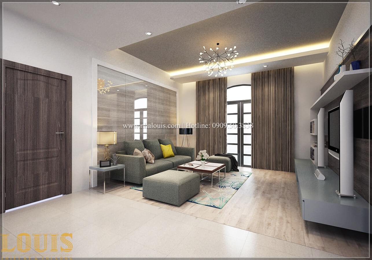 Phòng sinh hoạt chung Biệt thự 1 trệt 1 lầu phong cách hiện đại 27