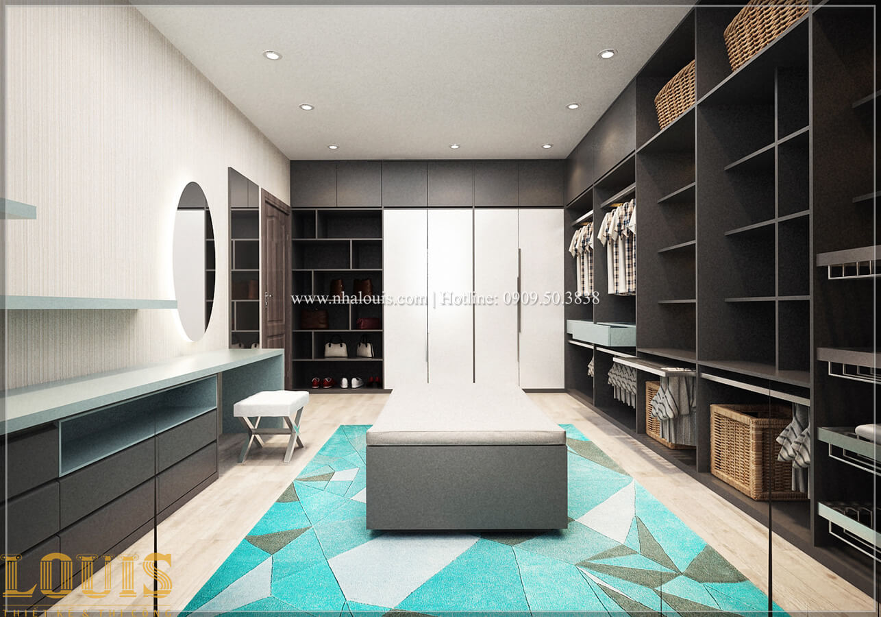 Phòng thay đồ Biệt thự 1 trệt 1 lầu phong cách hiện đại 30