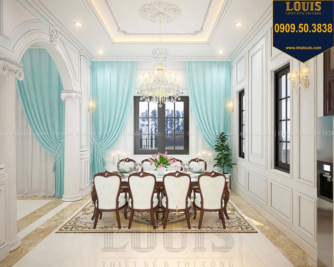 Phòng ăn Biệt thự 3 tầng có tầng hầm với phong cách tân cổ điển tại Bình Dương - 11