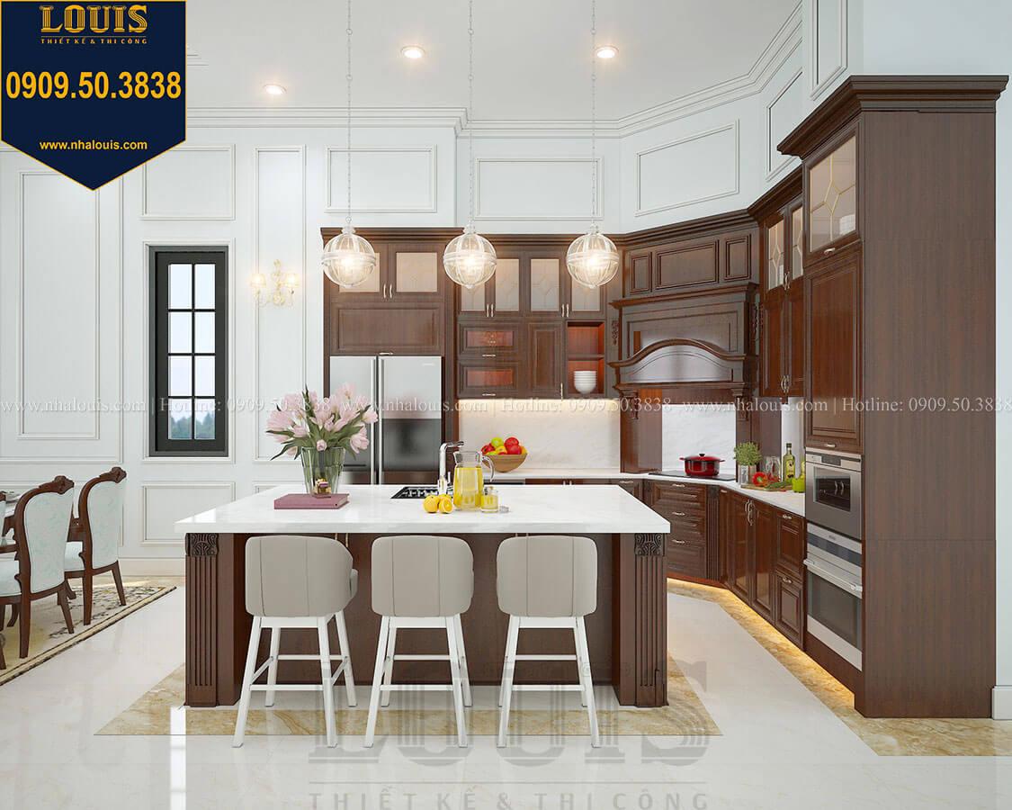 Phòng bếp Biệt thự 3 tầng có tầng hầm với phong cách tân cổ điển tại Bình Dương - 13